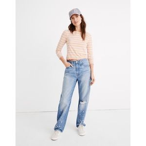 Madewell The Dadjean: Bleached Edition Jeans 26